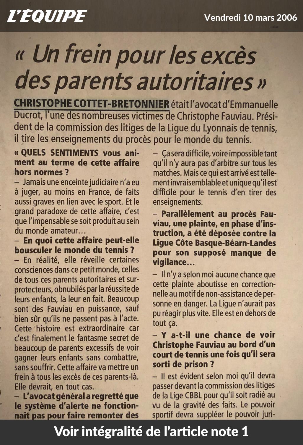 Christophe Cottet-Bretonnier - Affaire Fauviau