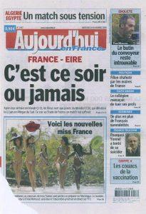 18-11-2009 Le Parisien Page 1