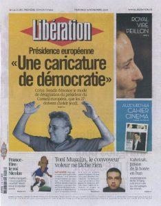 18-11-2009 Liberation Page 1