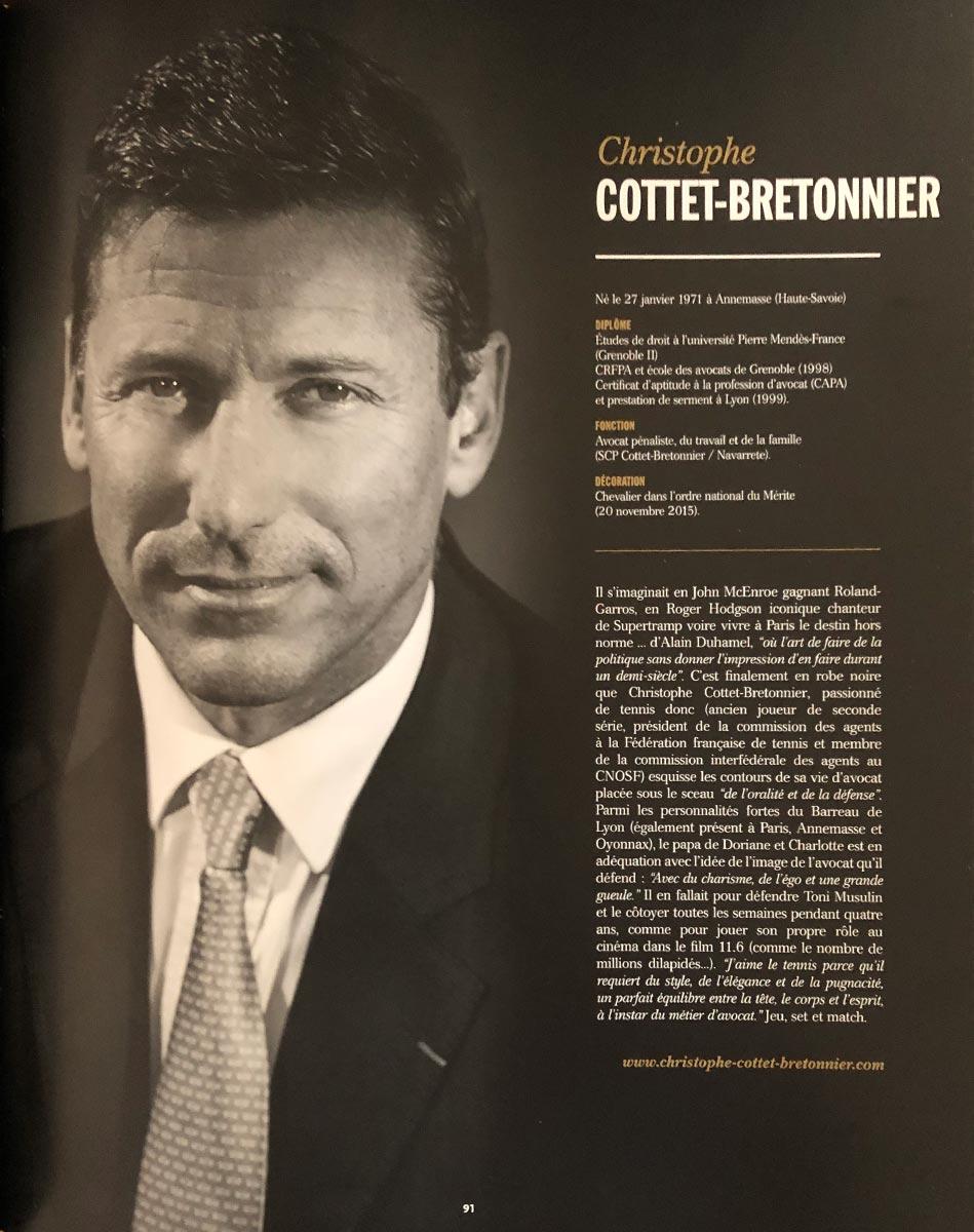 Christophe Cottet Bretonnier Top-500 Avocat Lyon Paris